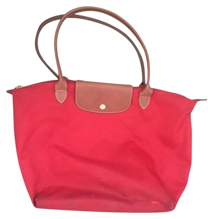 Longchamp Large Le Pliage Ruby Red Travel Bag | Weekend/Travel ...