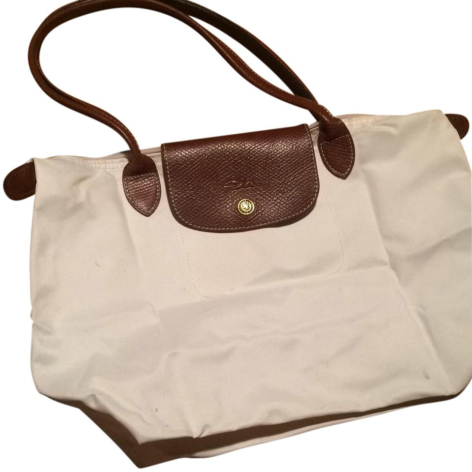 Longchamp Tote in White. Longchamp. Le Pliage Small White Tote Bag