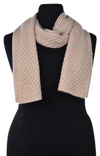 Lord & Taylor Cashmere Lord Amp Taylor Womens Pink Scarf One Knit Textured