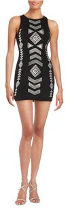 Lord & Taylor Sequin Sheath Cut-out Bodycon Date Dress