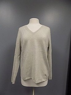 Lord & Taylor Cashmere And Gray Long Sleeved V Neck 518a Sweater