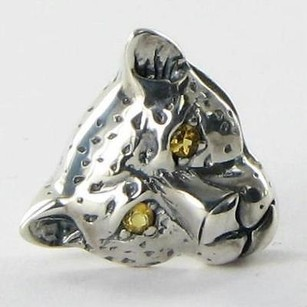 Lori Bonn Lori Bonn 212113c Slide Charm On The Prowl Leopard Citrine 925 Silver