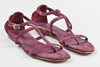 Loro Piana Dark Suede Purple Sandals