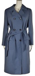 Louis Feraud Womens Trench Textured Long Sleeve Jacket Trench Coat