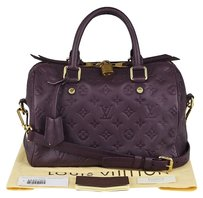Louis Vuitton 2012 Monogram Satchel in purple