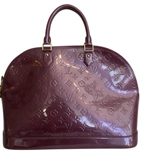 Louis Vuitton Alma Mm Vernis Leather Shoulder Bag