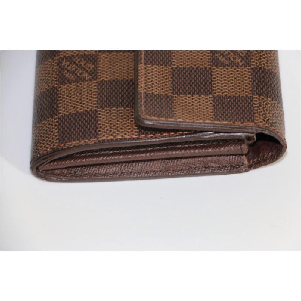 louis vuitton authentic damier ebene womens wallet