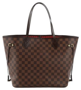 Louis Vuitton Azur Speedy Monogram Neverfull Mm Tote in Damier Ebene