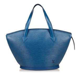 Louis Vuitton Blue Epi Leather Leather Shoulder Bag