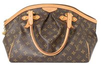 Louis Vuitton Canvas Leather Tote in Brown Monogram
