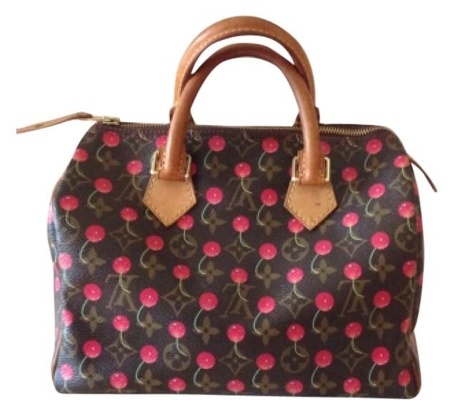 Louis Vuitton Cerises Cherry Speedy 25 Satchel Bag!
