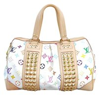 Louis Vuitton Courtney Mm Louis Courtney Gm White Satchel in Multicolor