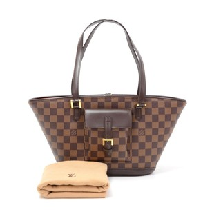 Louis Vuitton Damier Canvas Hand Tote in Brown