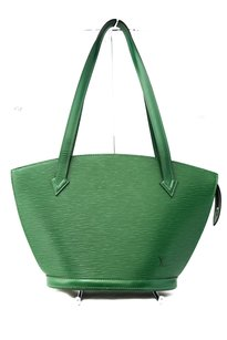 Louis Vuitton Epi Leather Suede Tote in Green