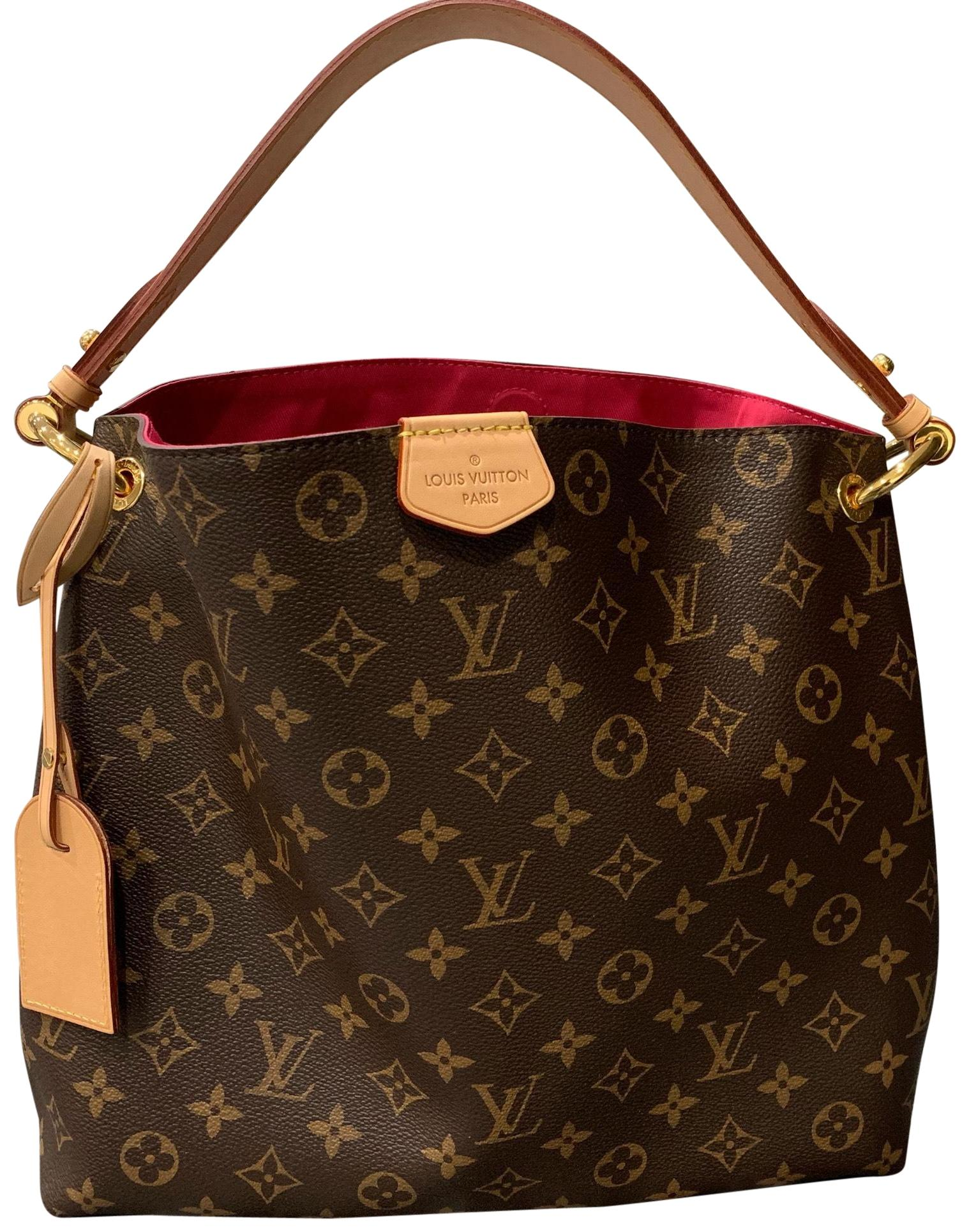 Louis Vuitton Graceful Pm Pink Colored Lining Monogram With