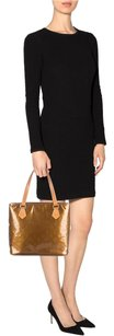 Louis Vuitton Houston Vernis Patent Leather Tote in Bronze