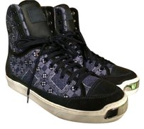 Louis Vuitton Justin Bieber Lv Sneakers High End Navy Blue Athletic