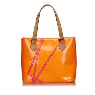 Louis Vuitton Leather Orange Pink Tote