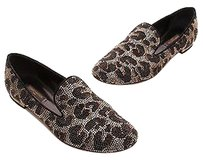 Louis Vuitton Spouse Leopard Black, brown Flats