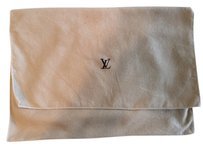 LOUIS VUITTON LOUIS VUITTON Envelope dust bag fold over cover storage Lv logo