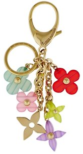 Louis Vuitton Louis Vuitton Multicolor Tesin Monogram Flower Key Holder And Bag Charm