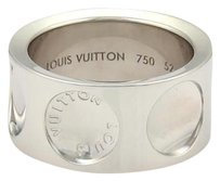 Louis Vuitton Louis Vuitton Impreinte 18k White Gold 10mm Wide Band Ring Eu 52-us