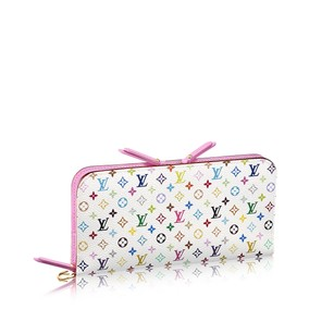 Louis Vuitton Louis Vuitton Ltd Edition Multicolore Murakami Litchi Pink Insolite Wallet Sold Out