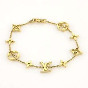 Louis Vuitton Louis Vuitton Monogram Links 18k Yellow Gold Bracelet 8