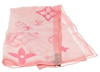 Louis Vuitton Louis Vuitton Pink Monogram Silk Scarf