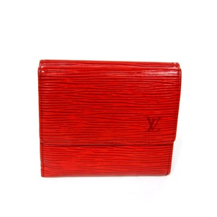Louis Vuitton Louis Vuitton Ponte-Monngie EPI Red Leather Luxury Elise Scarlet