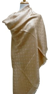 Louis Vuitton Louis Vuitton XLarge LV Monogram Dune Beige Scarf Shawl Wrap NEW