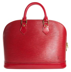 Louis Vuitton Lv Alma Alma Epi Alma Tote in red