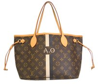 Louis Vuitton Neverfull Pm Tote in Monogram / Blanc/Noir