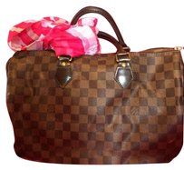 Louis Vuitton Neverfull Speedy Doctor Satchel in Damier Ebene