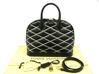 Louis Vuitton New Lambskin Satchel in BLACK