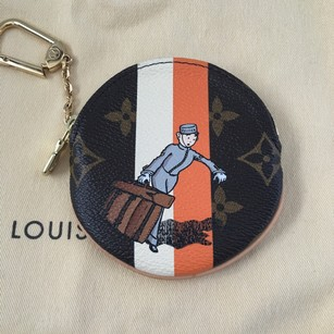 Louis Vuitton NEW Limited Edition Groom Louis Vuitton Round Coin Purse Key Chain Charm BOX POUCH!!