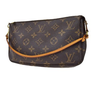 Louis Vuitton Pochette Monogram Leather Shoulder Bag