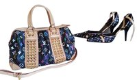 Louis Vuitton Rare Studded Heels Tote in Multicolor Black