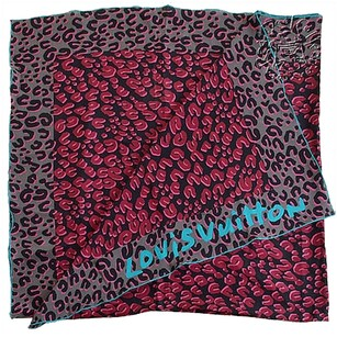 Louis Vuitton Rdc5884 Louis Vuitton Blackmulti Stephen Sprouse Leopard Scarf