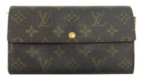 Louis Vuitton Sarah Monogram Canvas Leather Clutch Wallet Spain