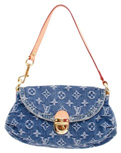 Louis Vuitton Denim Mini Satchel in Blue