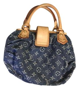 Louis Vuitton Satchel in Blue denim