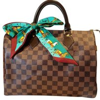 Louis Vuitton Satchel in Brown/black