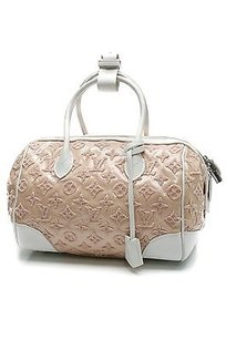 Louis Vuitton Rose Monogram Satchel in Pink, white