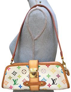 Louis Vuitton Shirley Murakami Multicolor Multicolore white Clutch