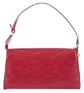 Louis Vuitton Red Epi Pochette Accessories Shoulder Bag