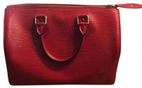 Louis Vuitton Speedy 25 Speedy Red Epi Tote