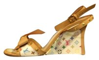 Louis Vuitton Studded Monogram Leather Multicolor Sandals