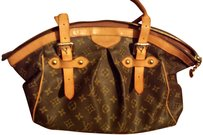 Louis Vuitton Speedy Monogram Canvas Leather Travel Bags Satchel in Brown