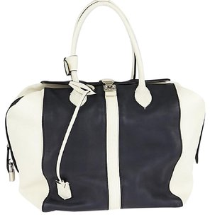 Louis Vuitton Tote in White/Navy Blue